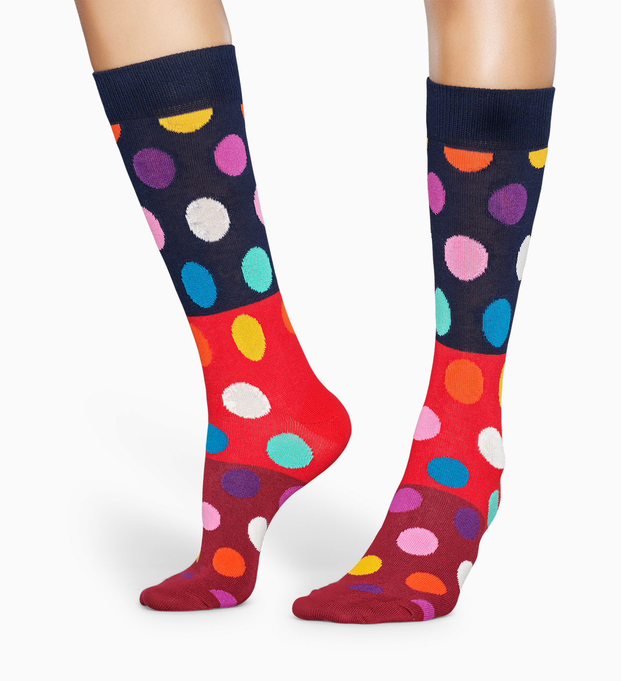 Gemusterte rote Socken: Big Dot Block | Happy Socks