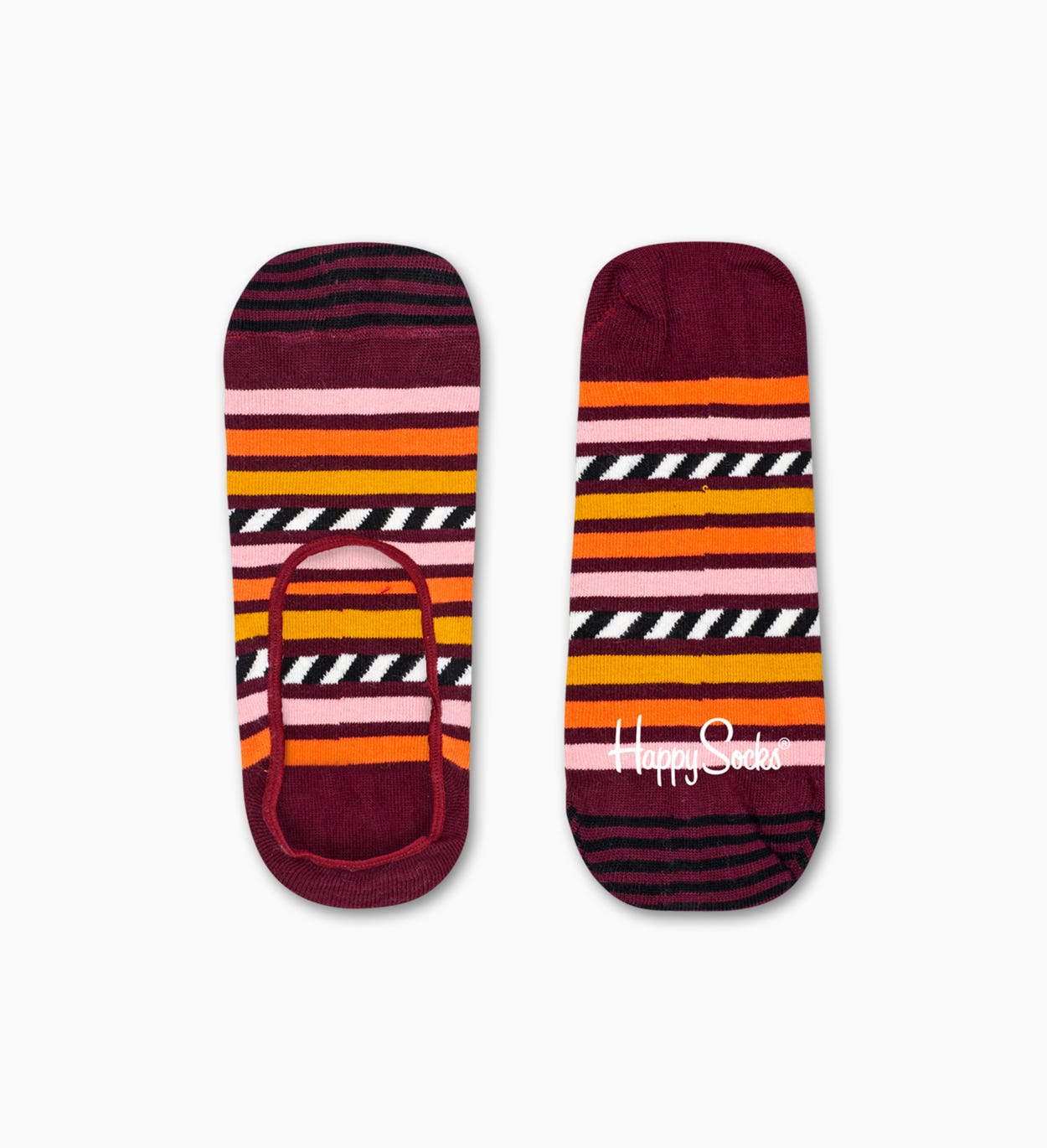 Burgunder Füßlinge: Stripe And Stripe Design | Happy Socks