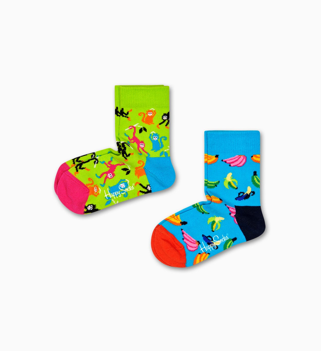2er-Pack Banana Socken, Blau - Kinder | Happy Socks