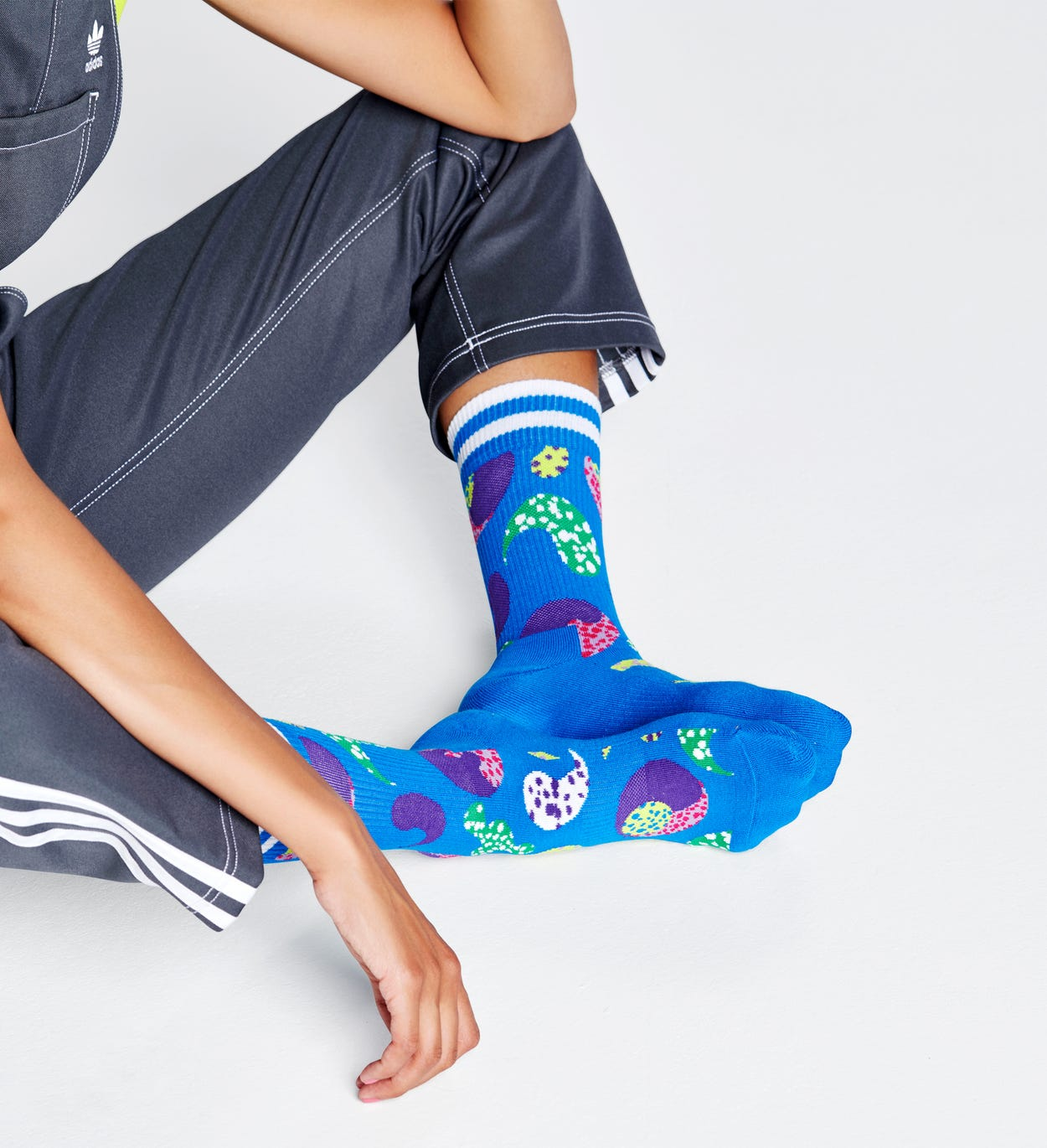 Yin Yang Socken, Blau - ATHLETIC | Happy Socks