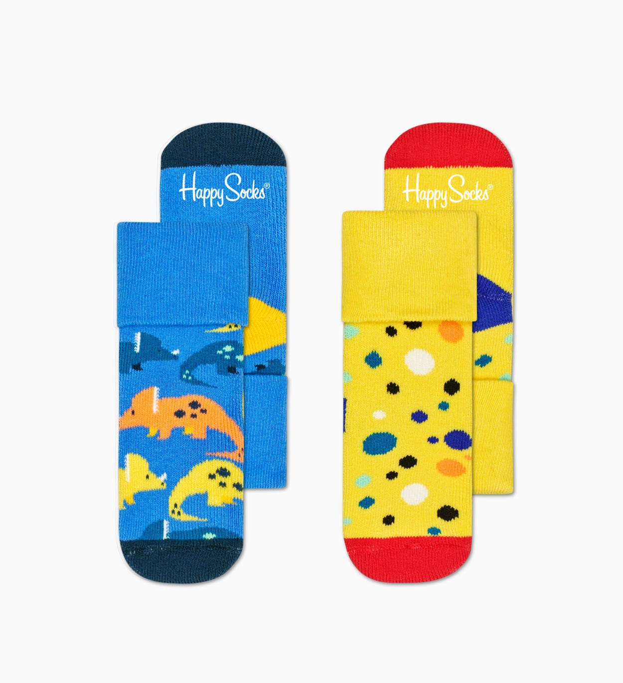 2-Pack Kids Dinosaur Terry Socks