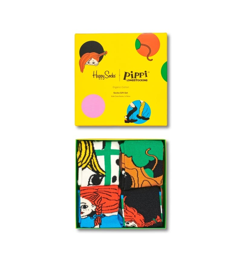 Pippi Longstocking Kids 4-Pack Gift Set