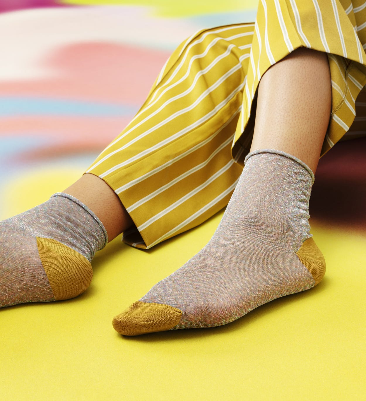 Gelbe   orange Knöchelsocken: Emma | Hysteria by Happy Socks