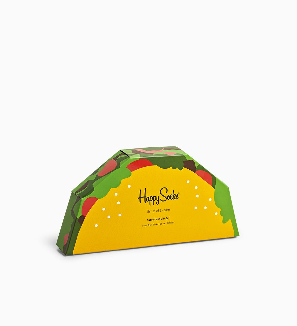 Taco Gift Box 2pc | Happy Socks