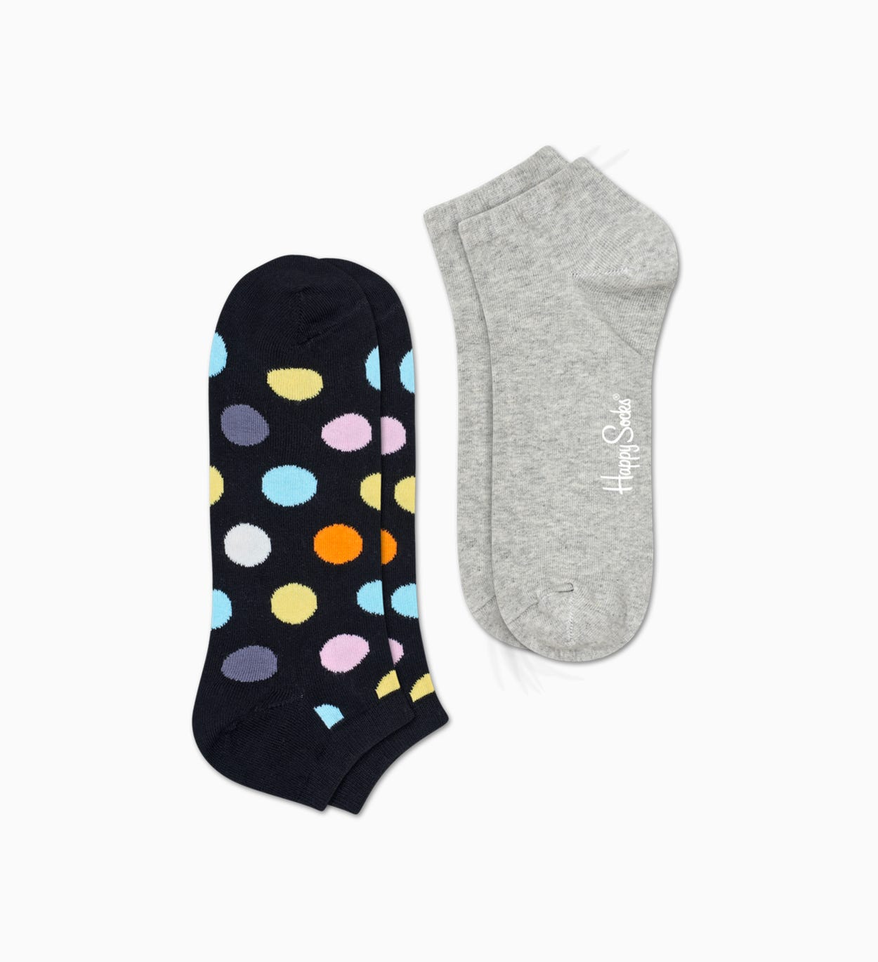 Black   Gray low socks 2pc: Big Dot | Happy Socks