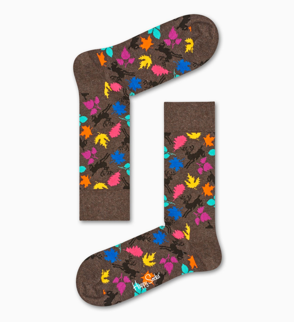 Brown socks: Deer pattern | Happy Socks