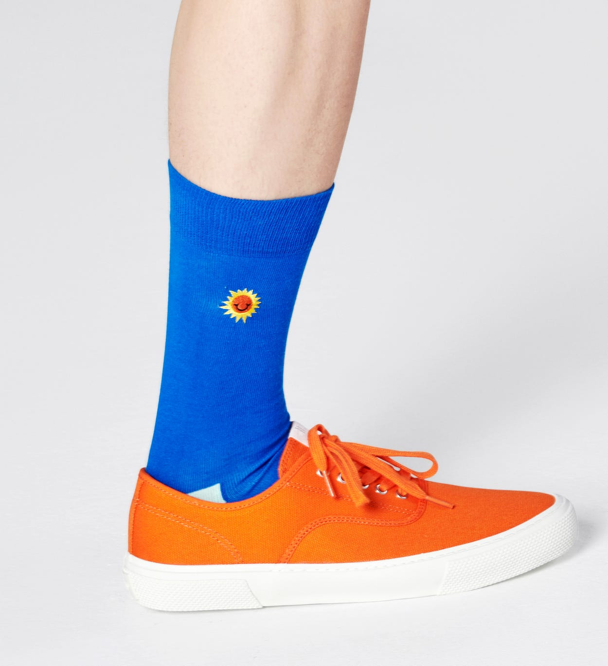 Embroidery Sunny Smile Sock
