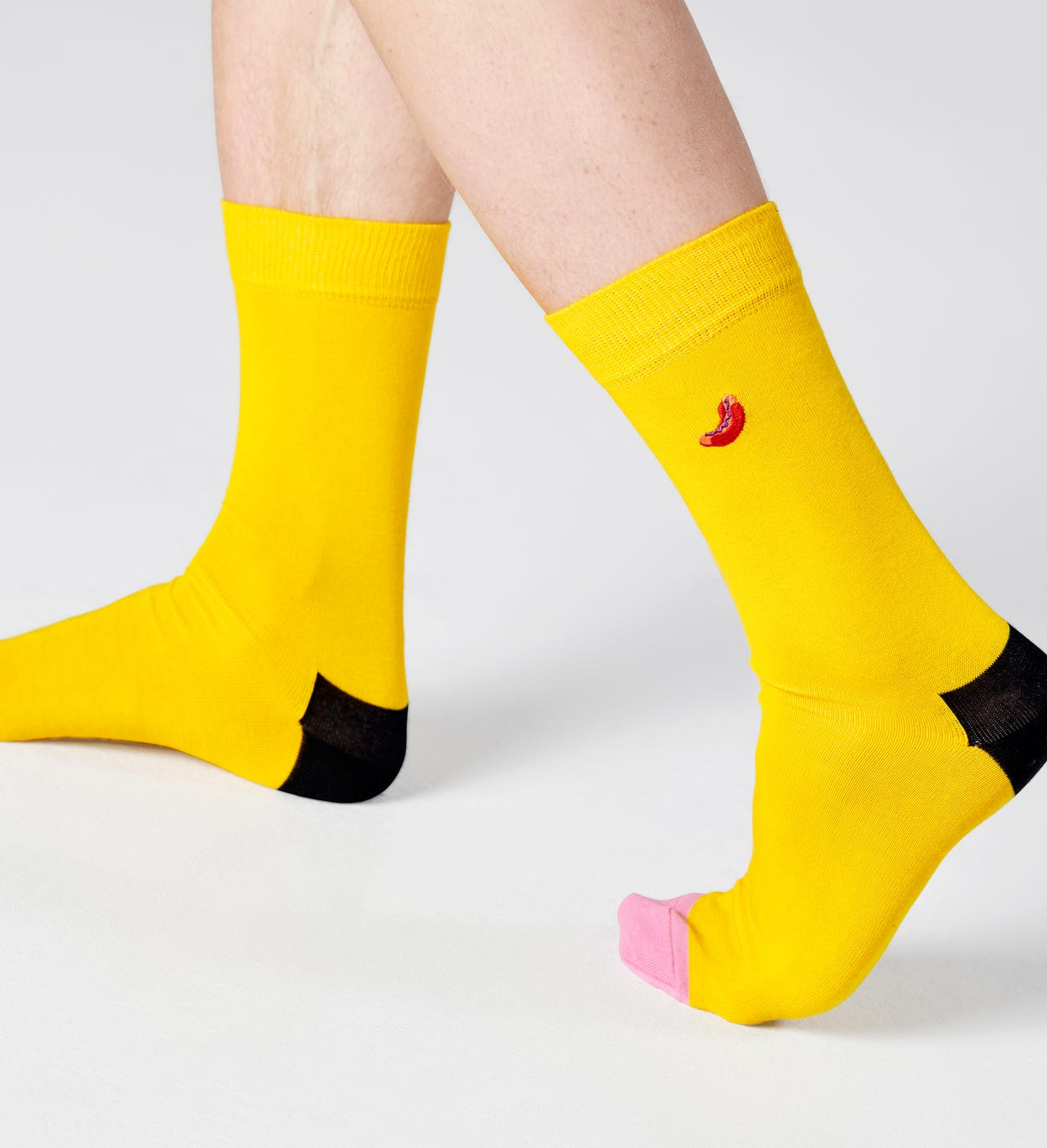 Embroidery Hot Dog Socks, Yellow | Happy Socks