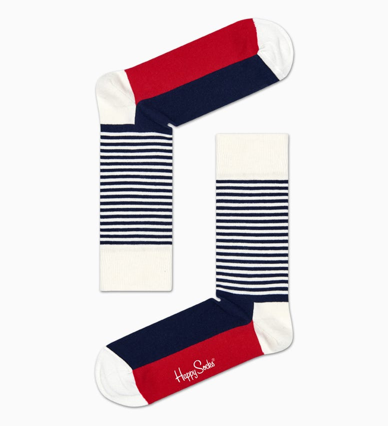 Navy Blaue Socken Gift Box: Stripe Design | Happy Socks