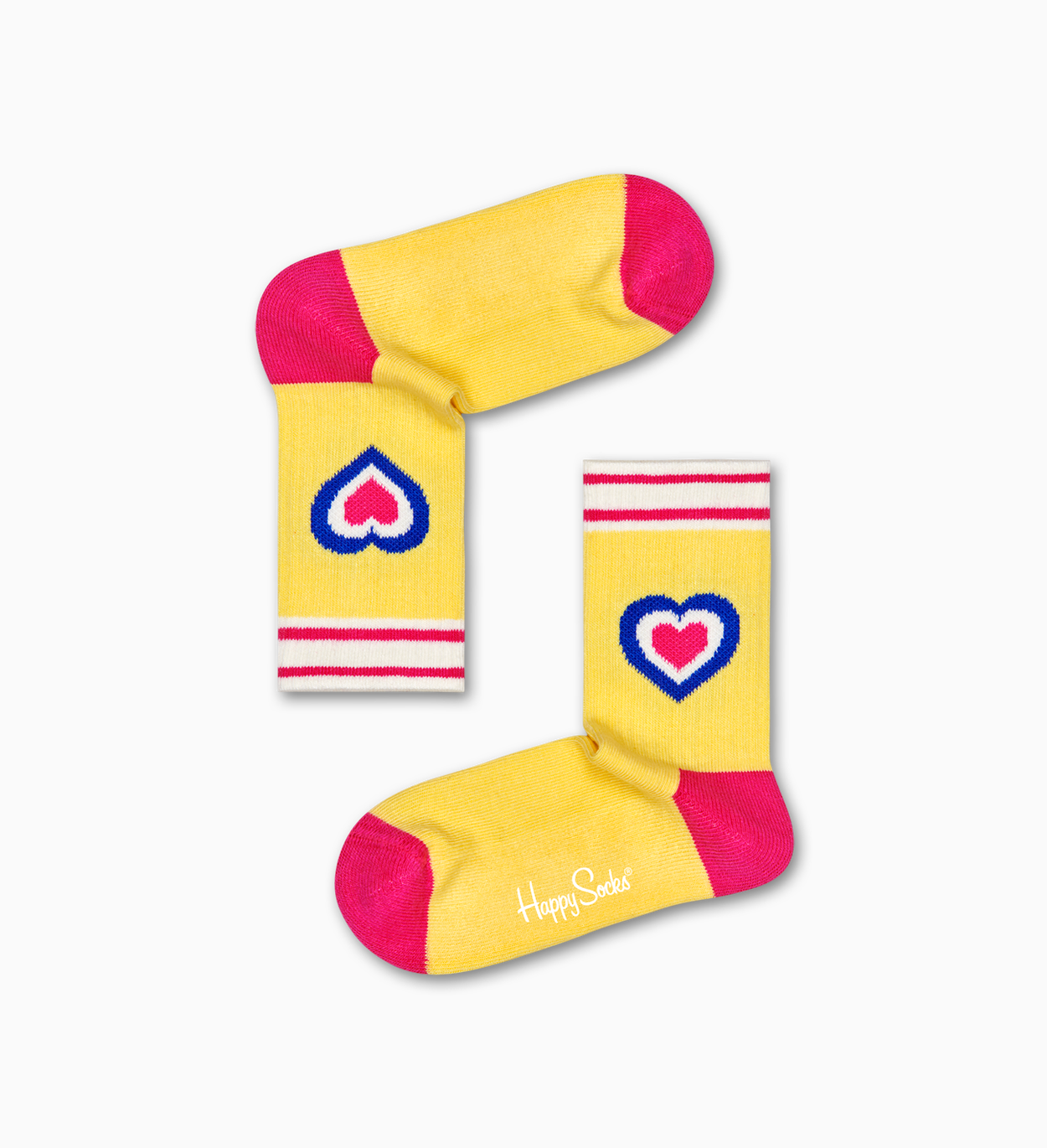 Heart Rib Socken, Gelb - Kinder | Happy Socks