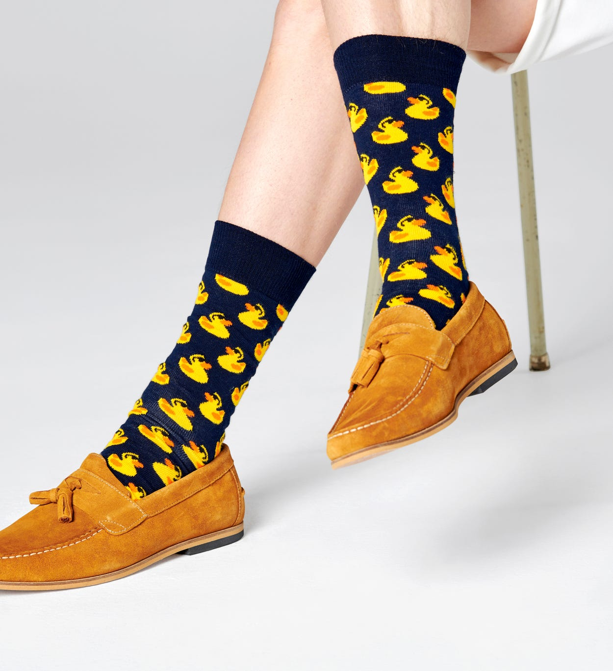 Patterned Navy Socks: Rubber Duck | Happy Socks