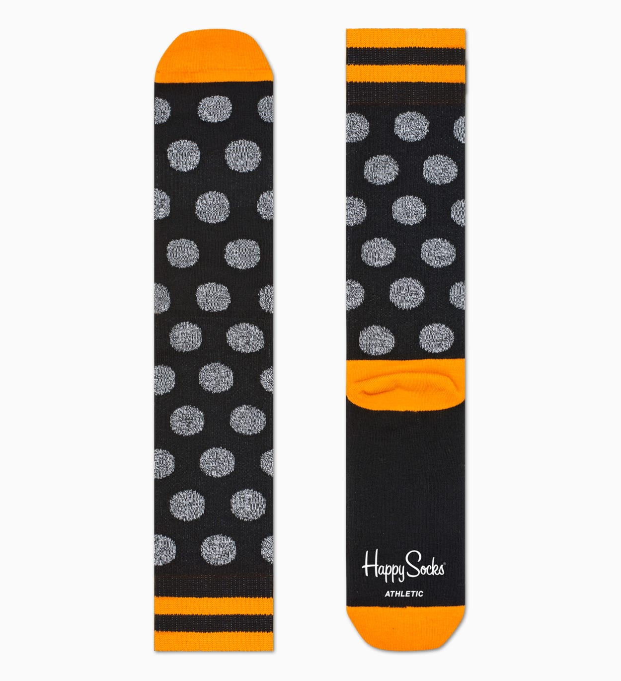 Black sport socks: Big Dot - ATHLETIC | Happy Socks