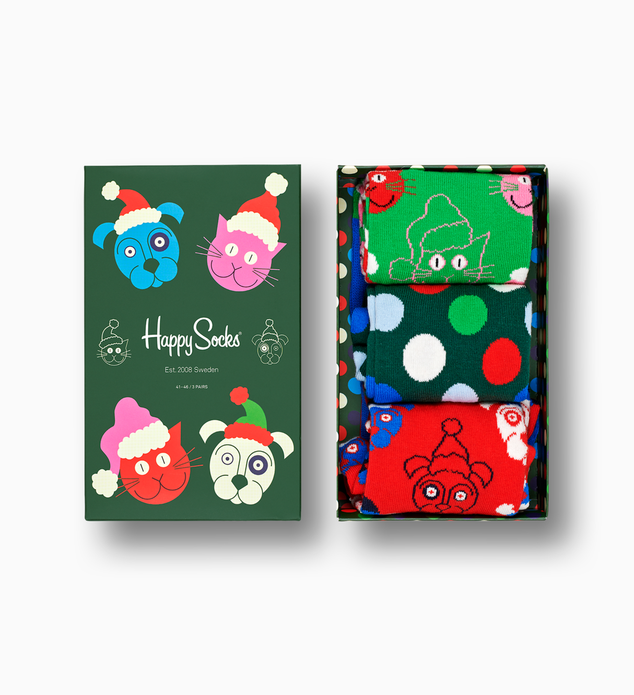Santa Animals Gift Box 3-Pack