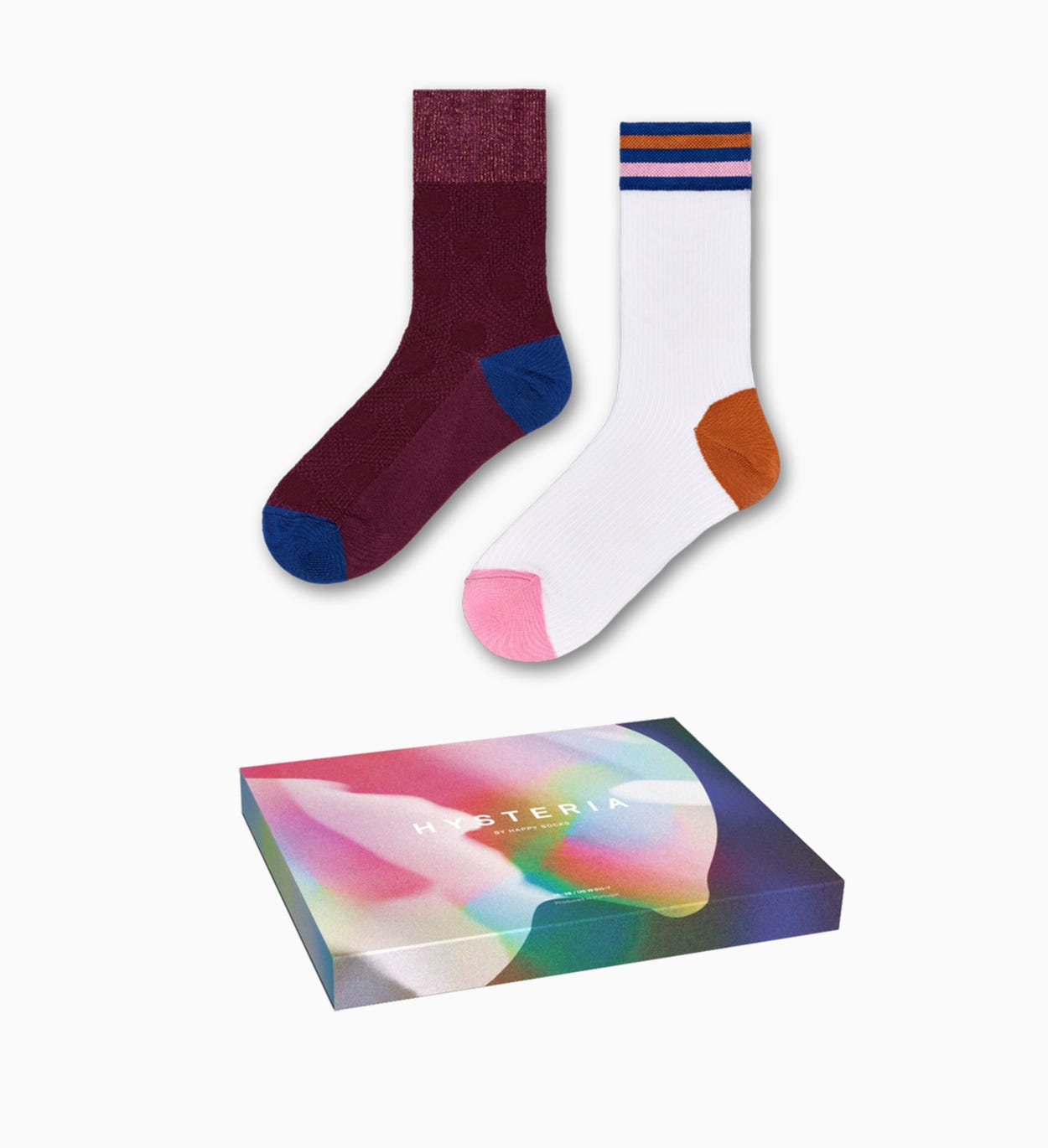 Purple Mid High Sock: Gabrielle - Hysteria | Happy Socks