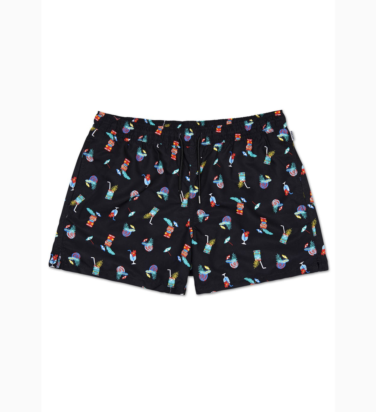 Tiki Soda Swim Shorts, Black | Happy Socks