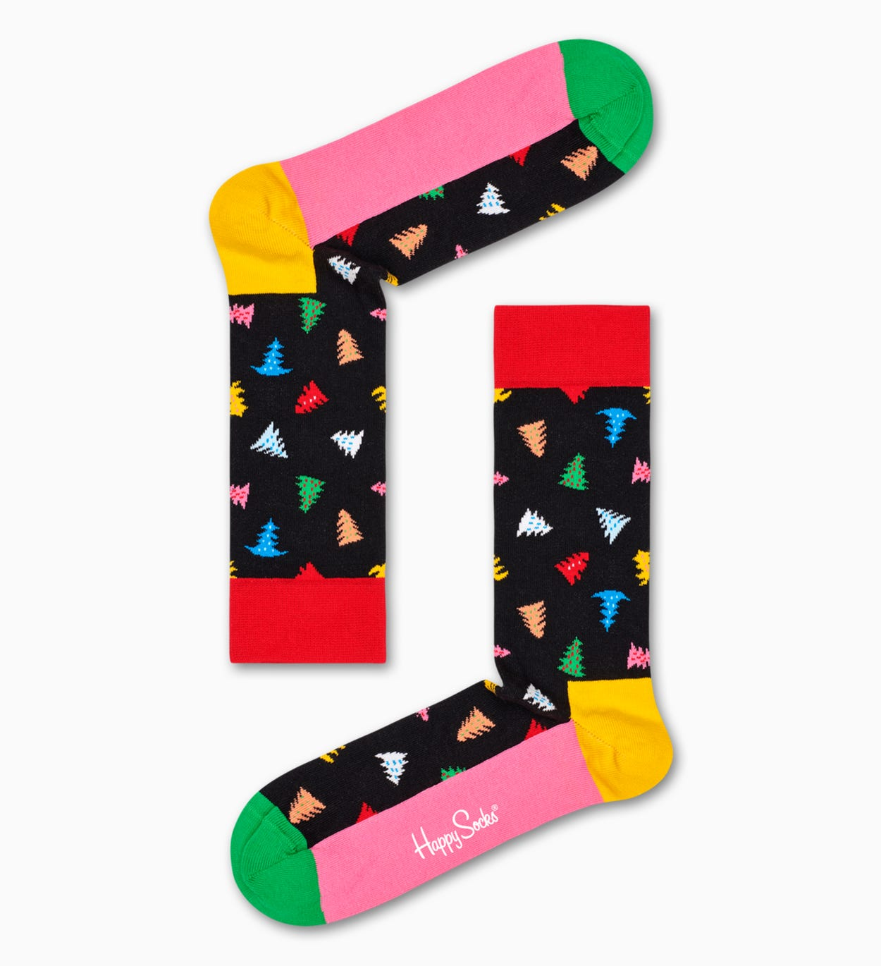 Patterned Black Socks: Trees And Trees | Happy Socks