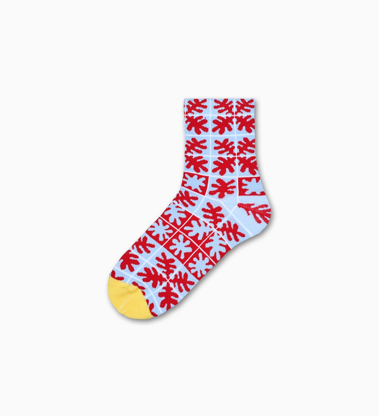 Women's Ankle Socks: Emilia - Red & Light Blue | Hysteria