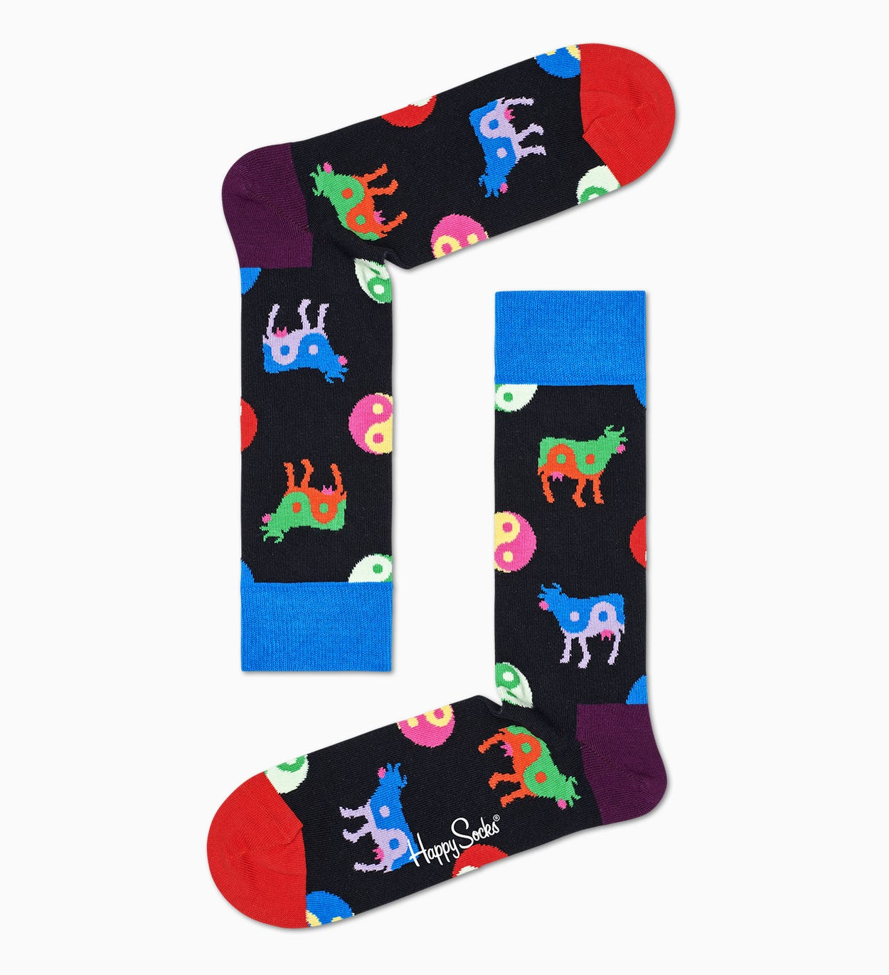Blue Sock: Yin Yang Cow | Happy Socks