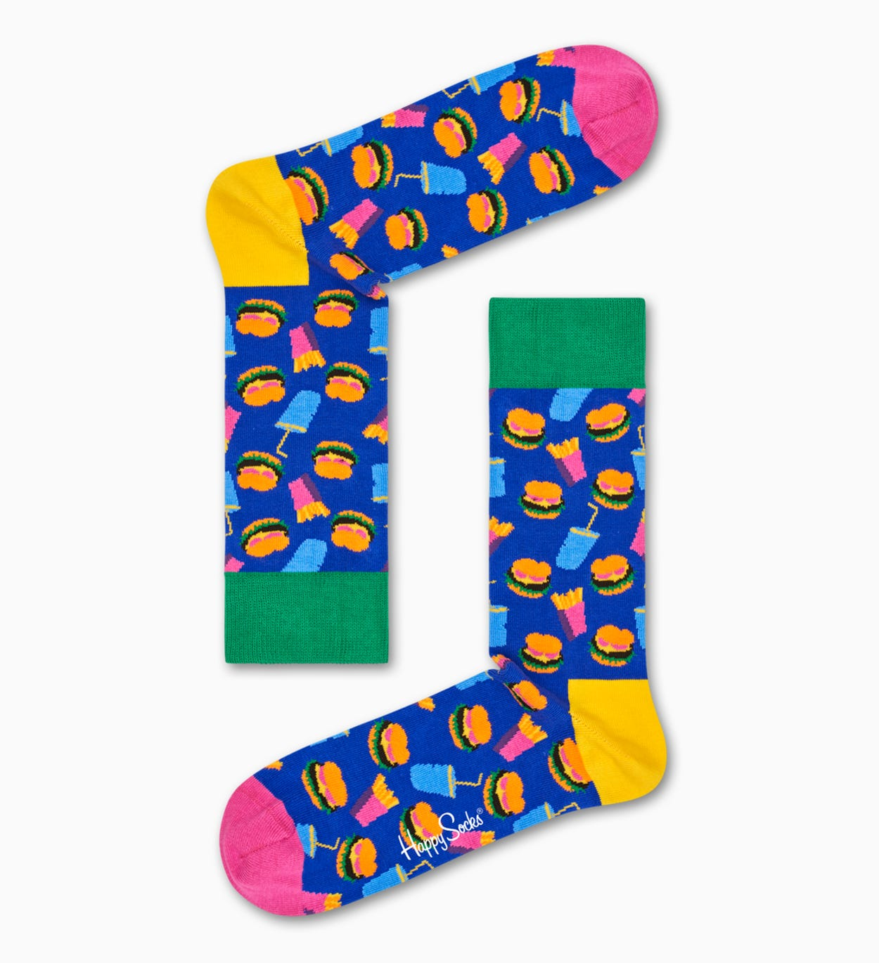 Blue socks: Hamburger pattern | Happy Socks