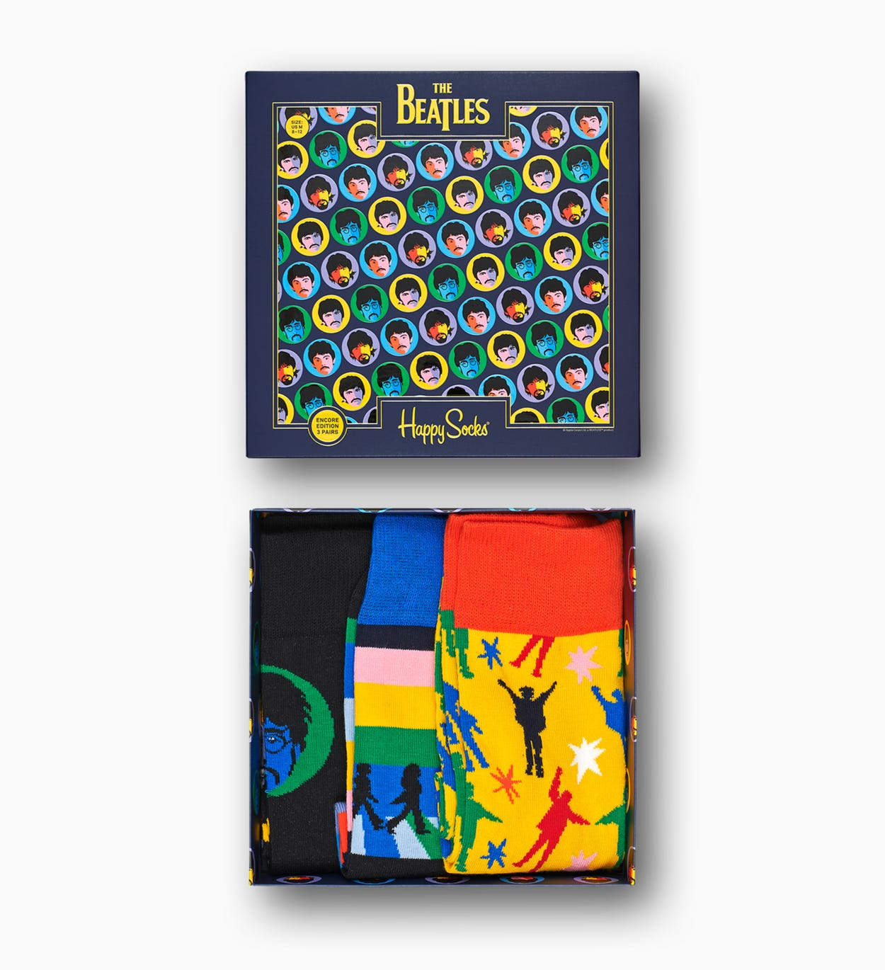 Make the Beatles fan in your life feel like #1 with the chart-topping Beatles Gift Box. Featuring three unique styles in vibrant technicolor, this speci…