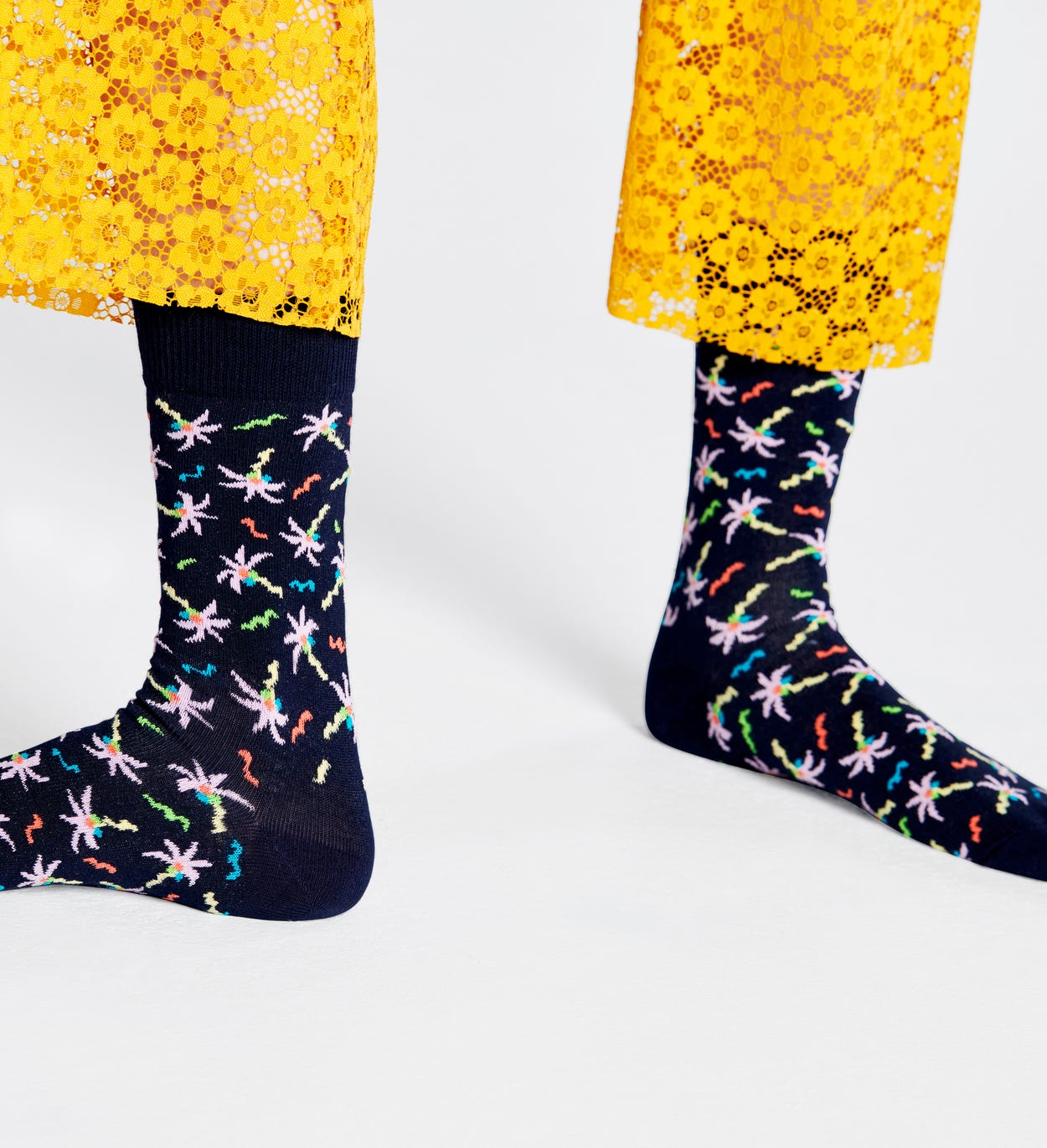 Confetti Palm Socken, Schwarz | Happy Socks