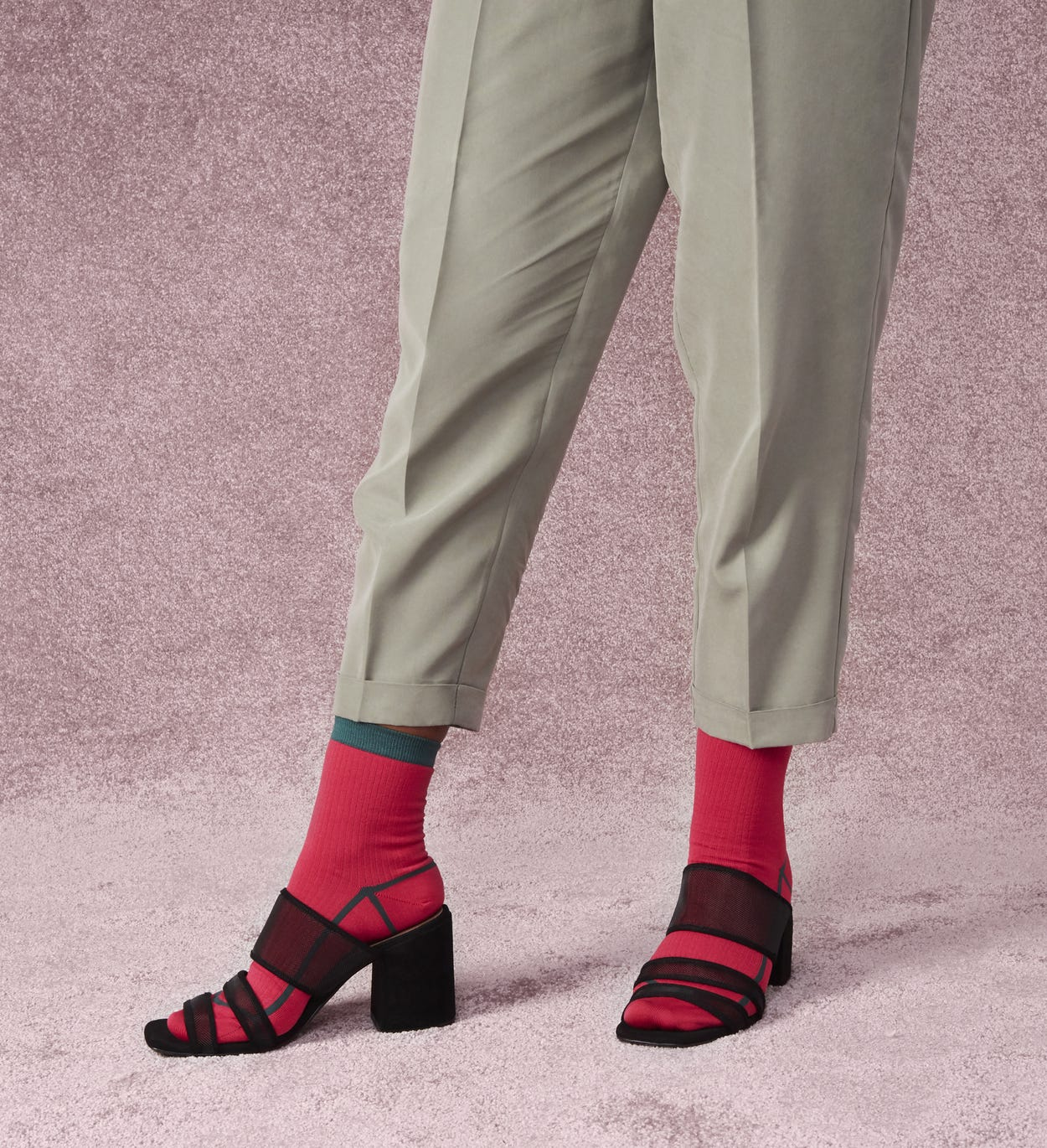 Pink ankle socks: Lily | Hysteria by Happy Socks