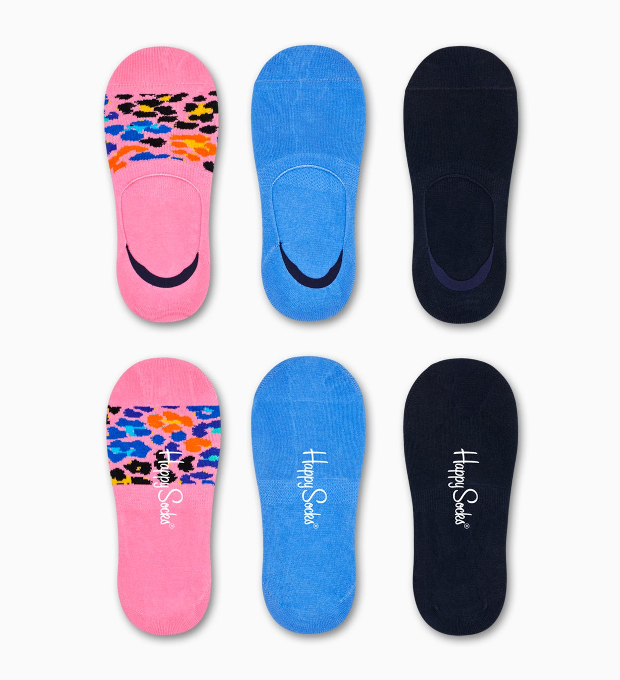 3-Pack Multi Leopard Liner Sock