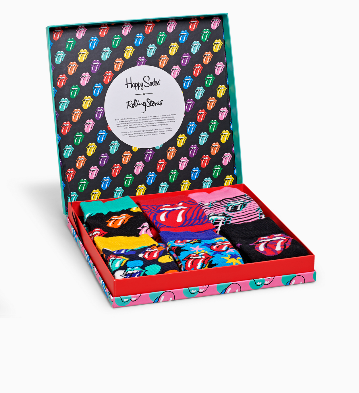 Happy Socks x Rolling Stones Gift Box 6-pack | Happy Socks
