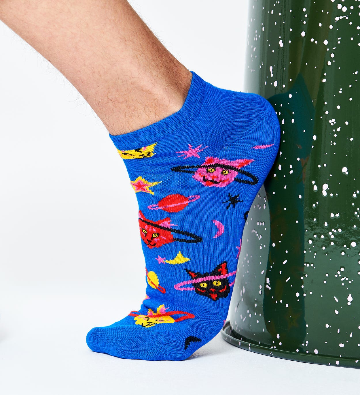 Space Cat Low Sock