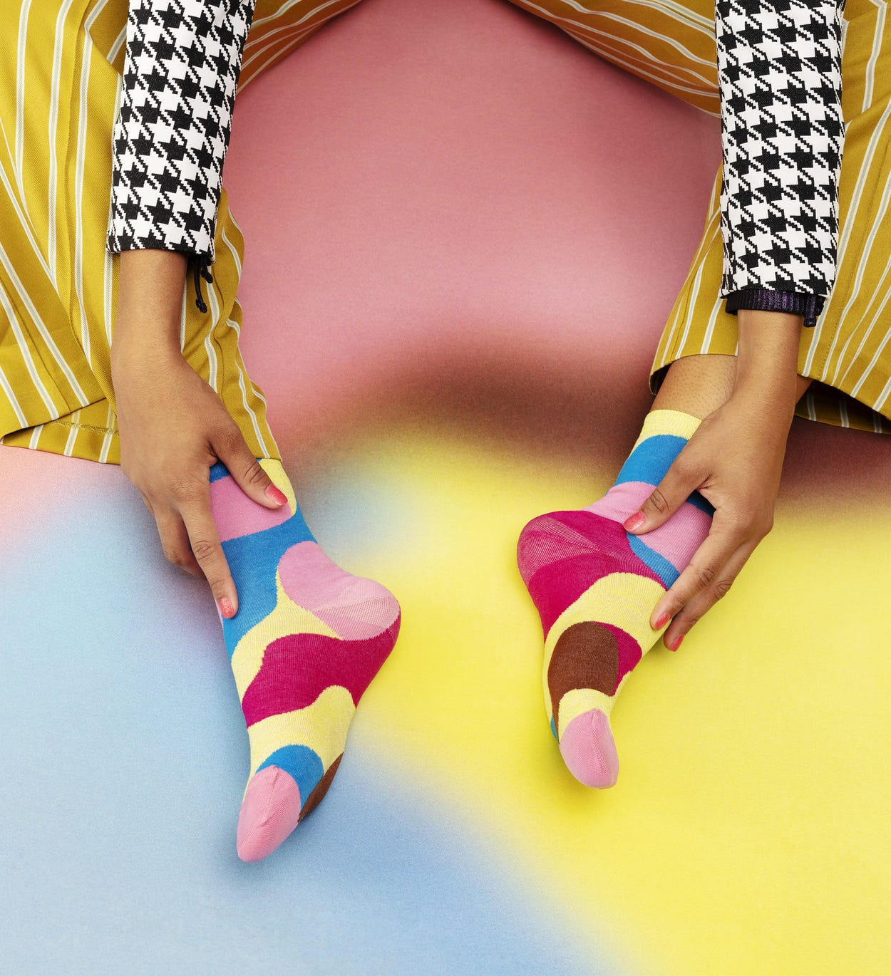 Pink Ankle Socks: Alice - Hysteria | Happy Socks