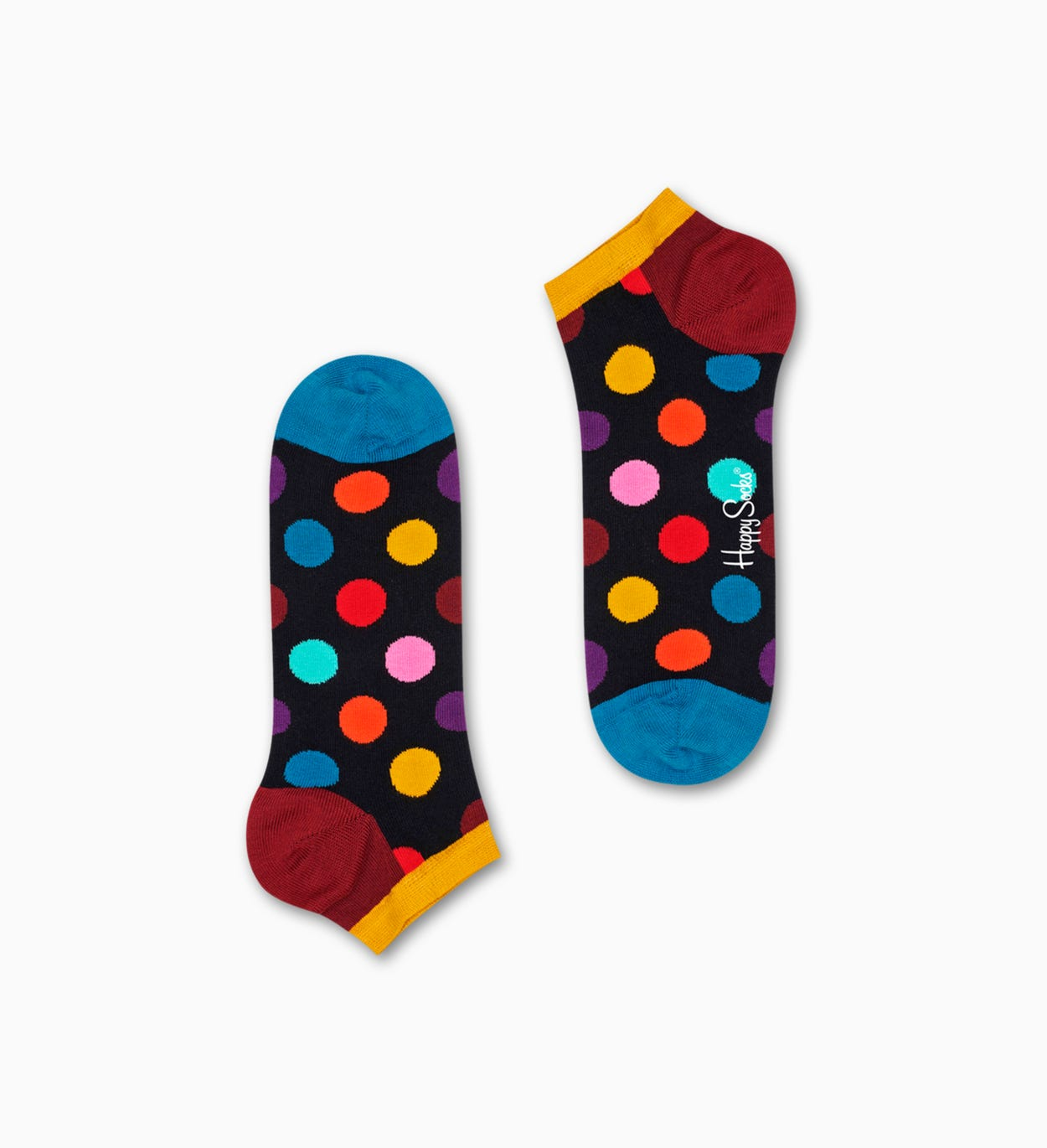 Dunkelgraue Low Socken: Big Dot | Happy Socks