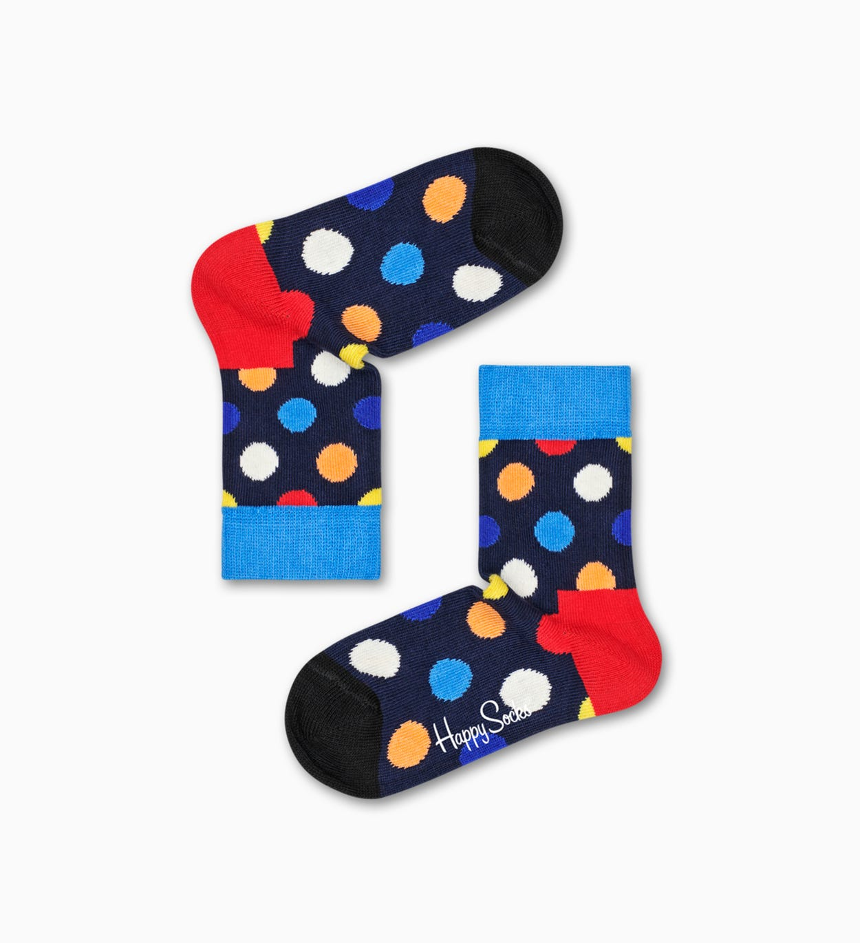Blaue Baby-Socken - 2er Pack: Big Dot | Happy Socks