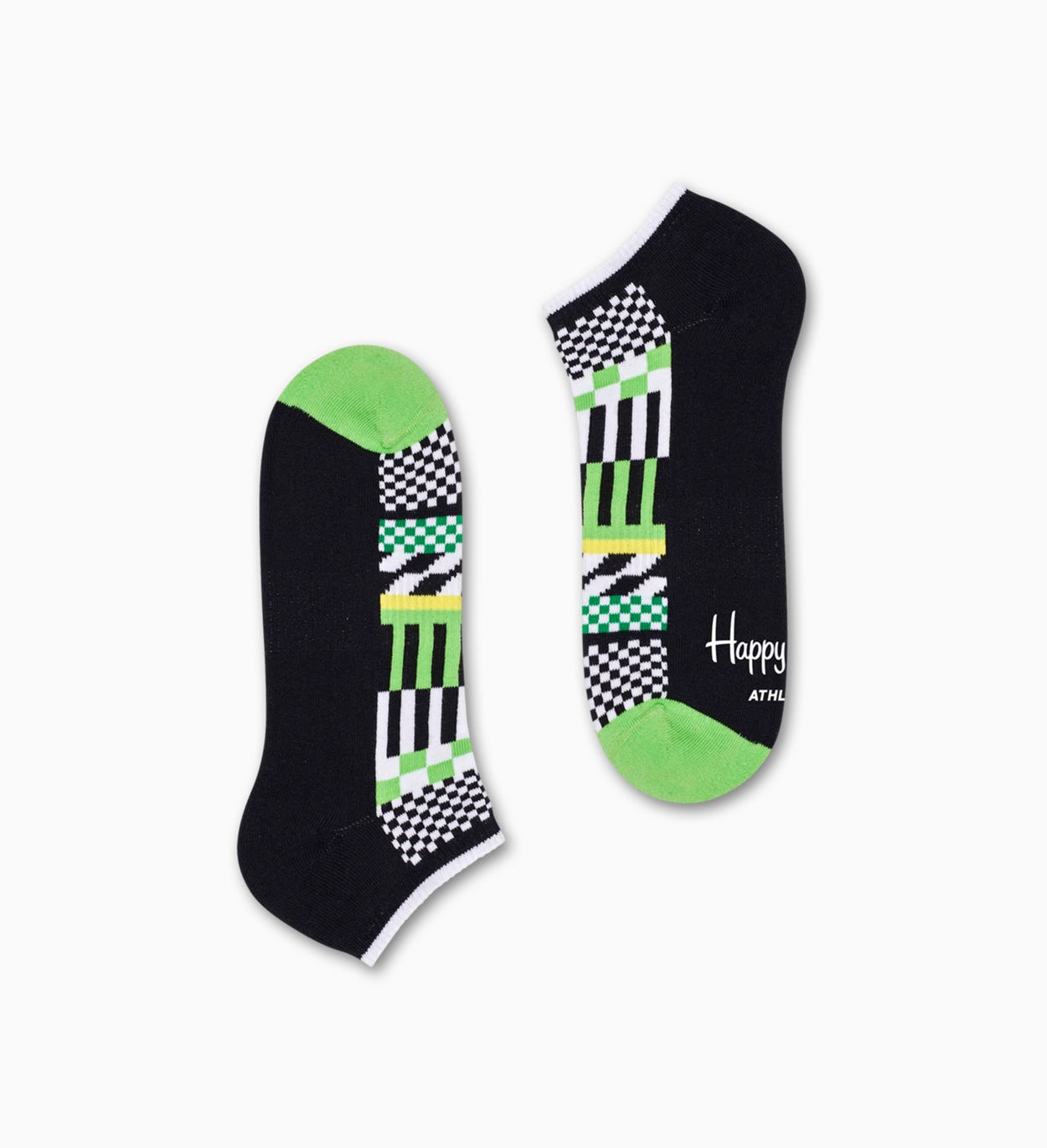 Athletic Checked Stripe Low Sock