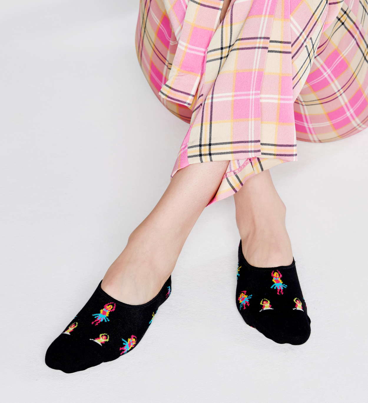 Hula Liner Socks, Black | Happy Socks