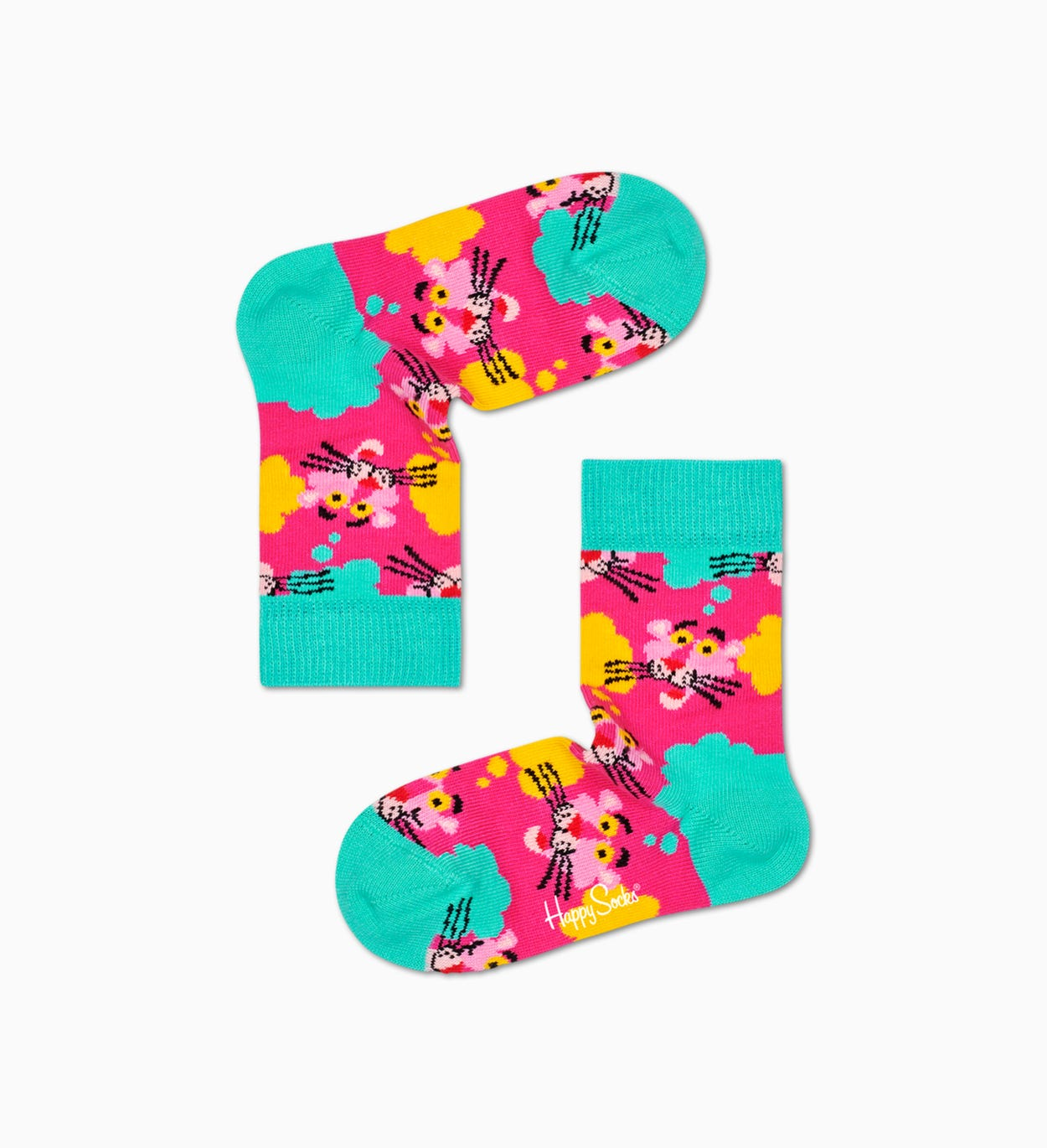 Happy Socks x Pink Panther: Chaussettes Enfants Think Pink