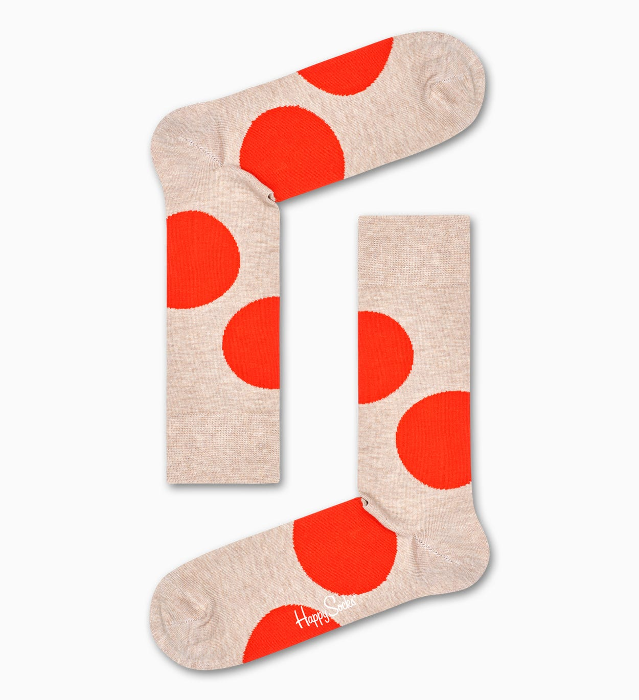 Jumbo Dot Socks, White | Happy Socks