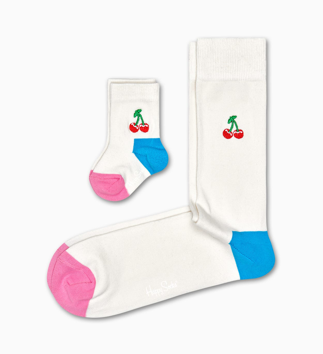 Adult and Kid matching socks gift box: Cherry | Happy Socks