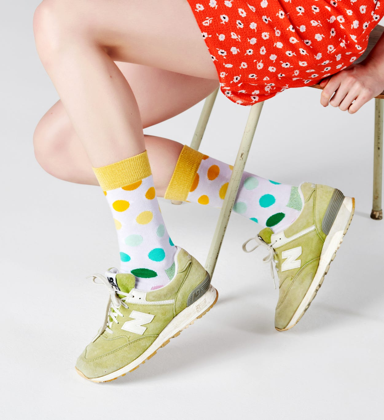 Big Dot Socken, Weiß | Happy Socks