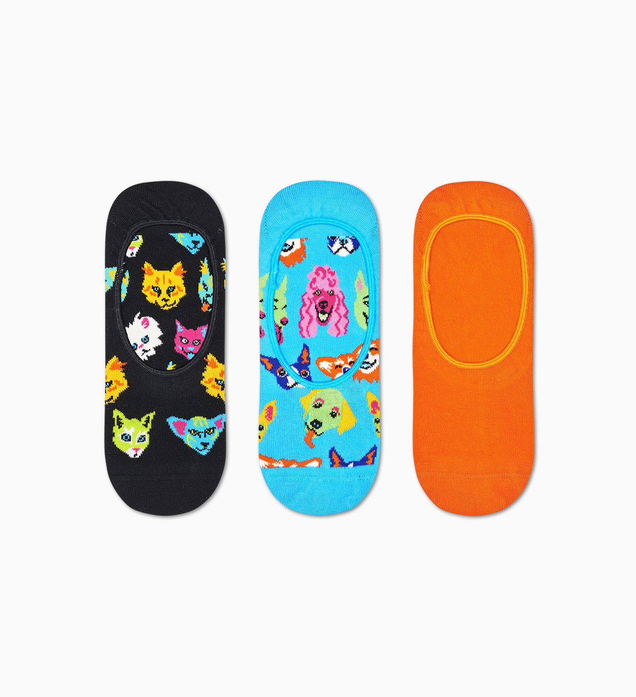 3-Pack Cats & Dogs Liner Sock