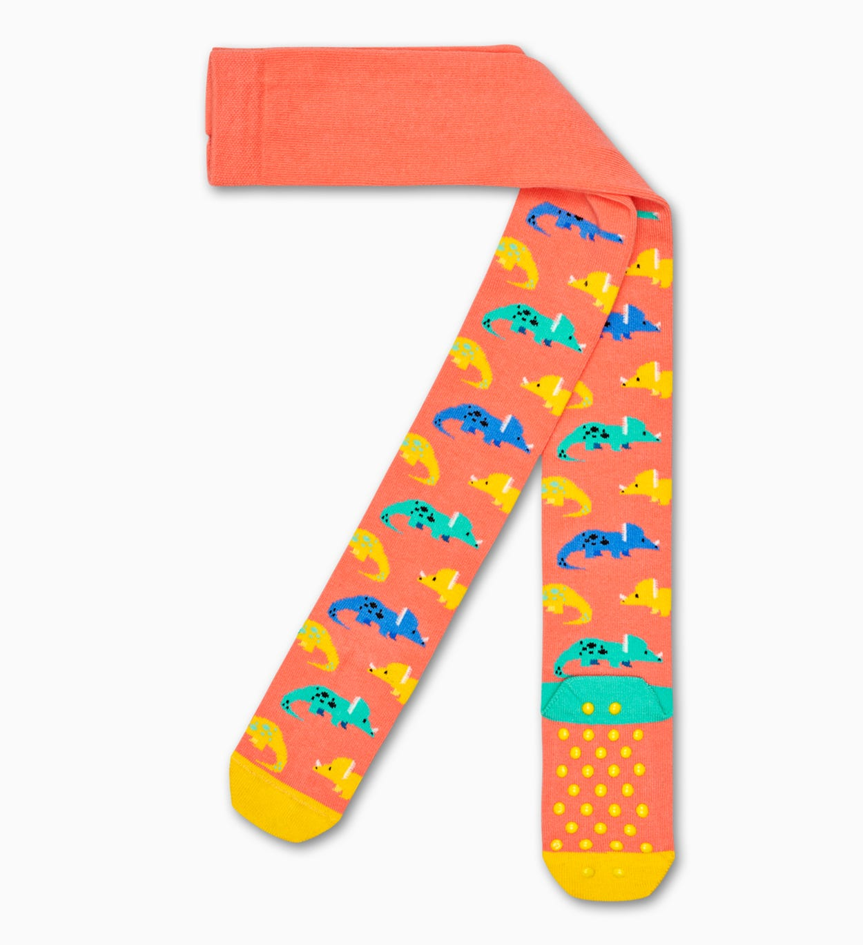 Orange Baby-Stumpfhosen: Dinosaur | Happy Socks