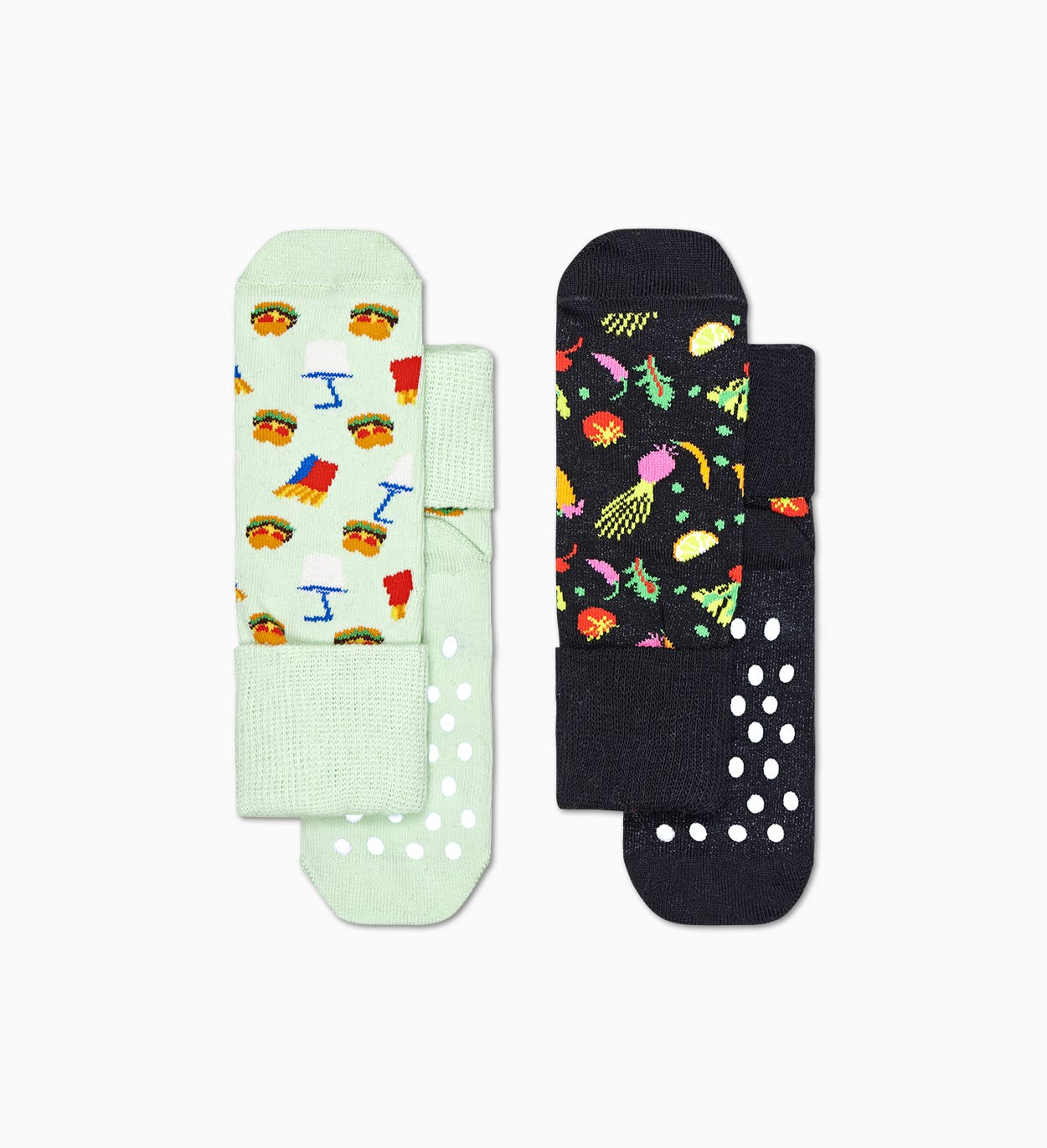 2-Pack Kids Food Anti-Slip Socks