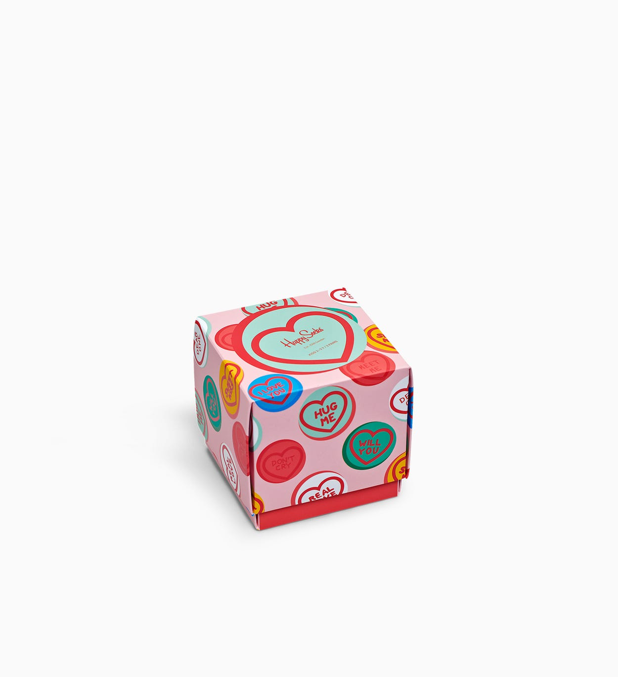 I Love You Geschenkbox für Kinder, Pink | Happy Socks