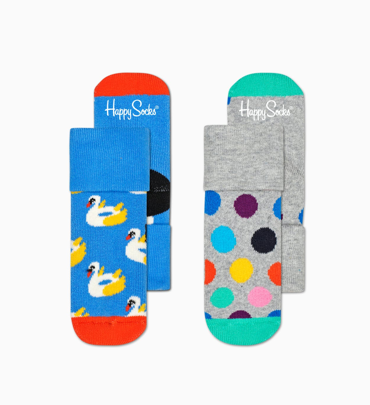 2-Pack Kids Swan Terry Socks