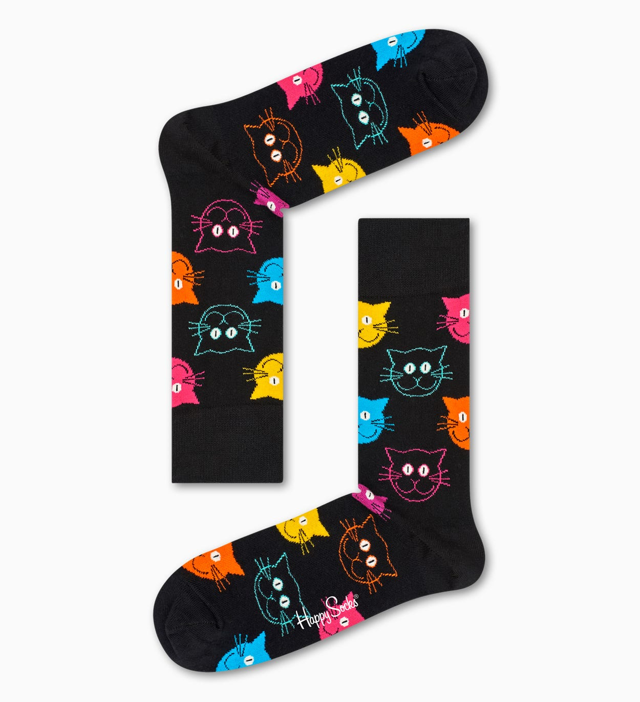 Black socks: Cat pattern | Happy Socks