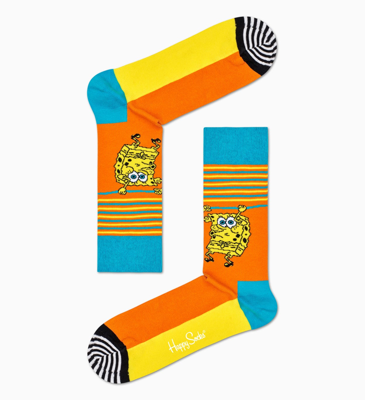Happy Socks x Sponge Bob: Let's Work It Out Socks