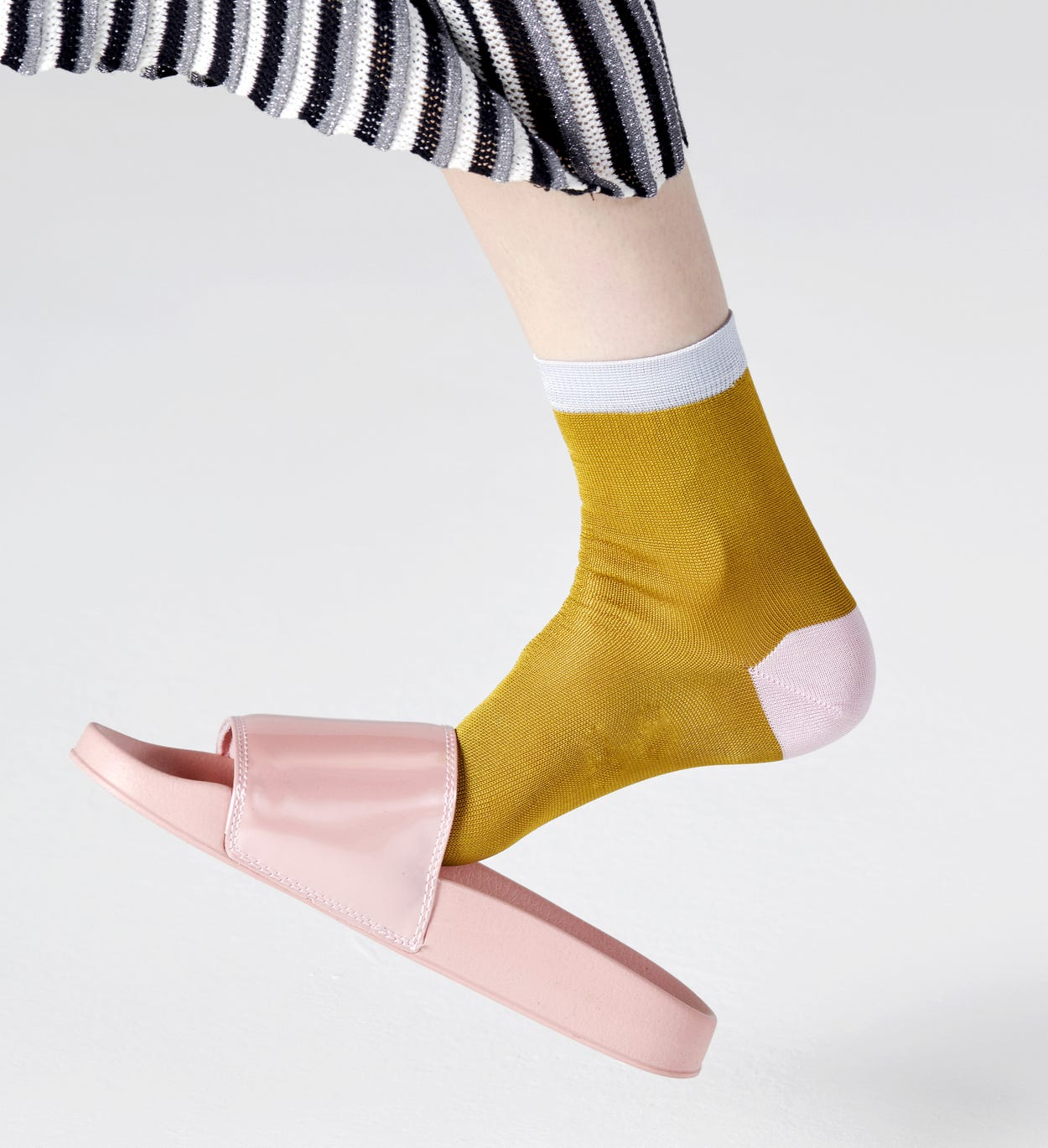Grace Ankle Socken, Gelb - Hysteria | Happy Socks