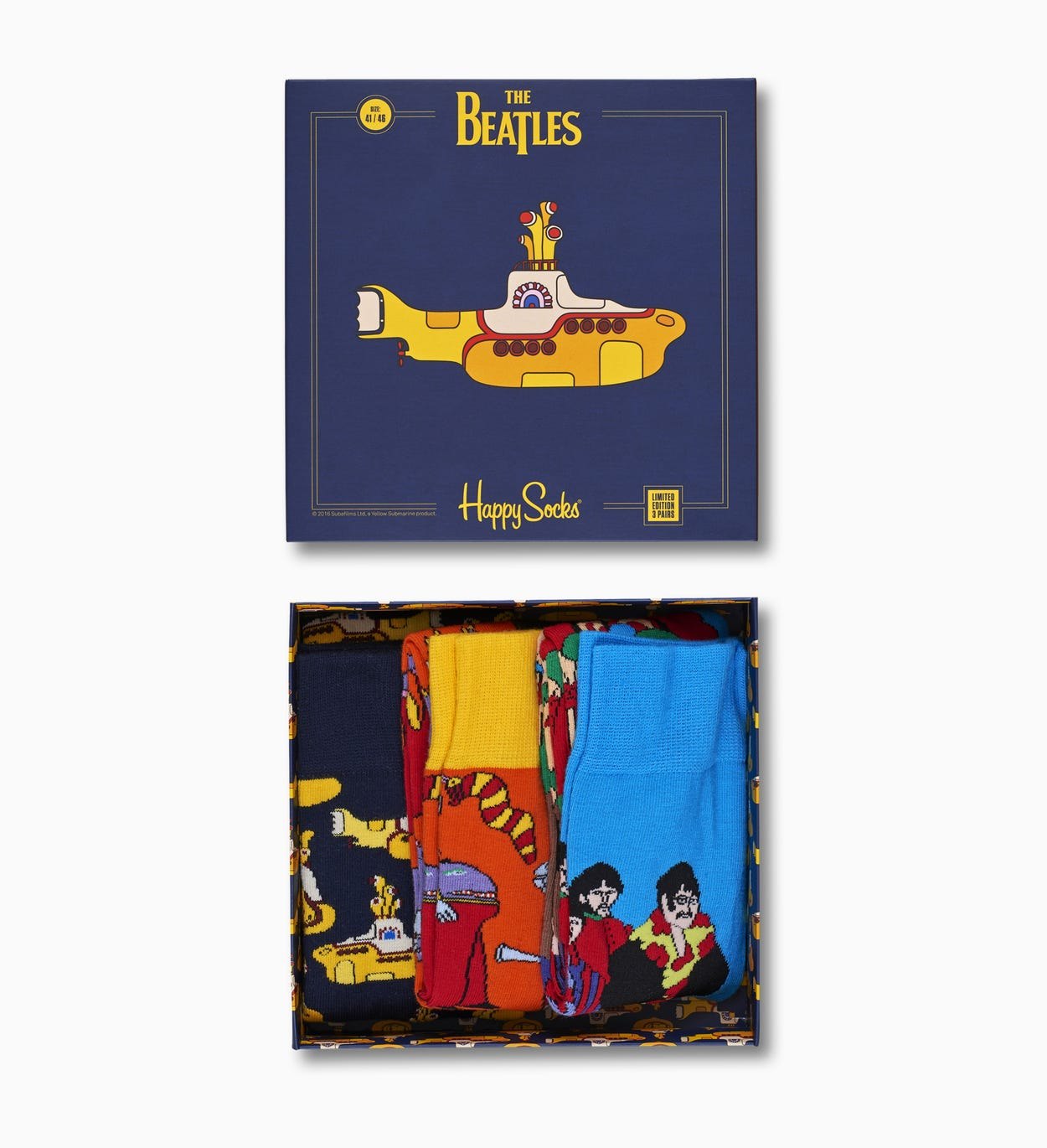 The Beatles Socks EP Collectors Box Set 3-pack | Happy Socks