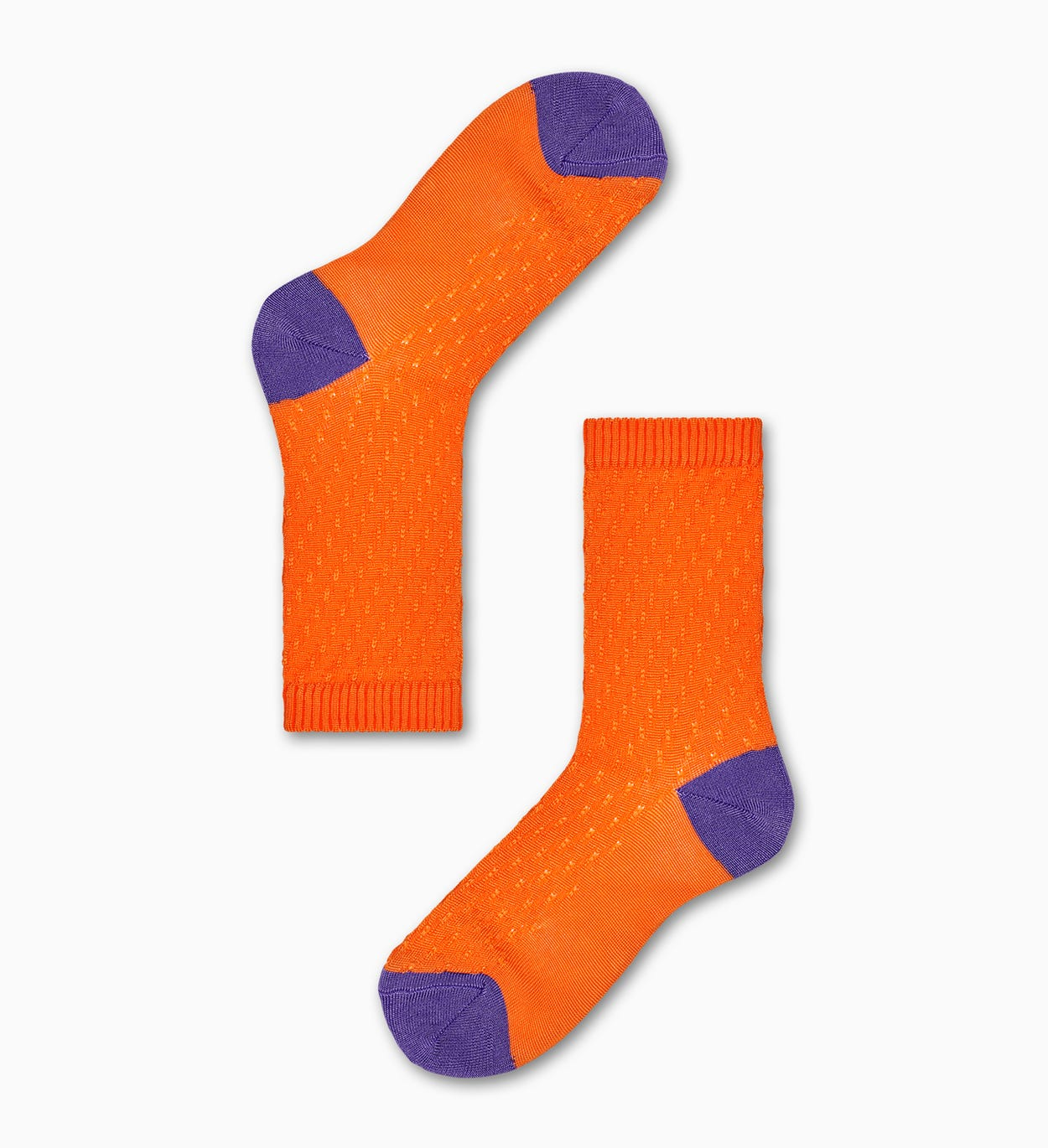 Livia Crew Socks, Orange - Hysteria | Happy Socks