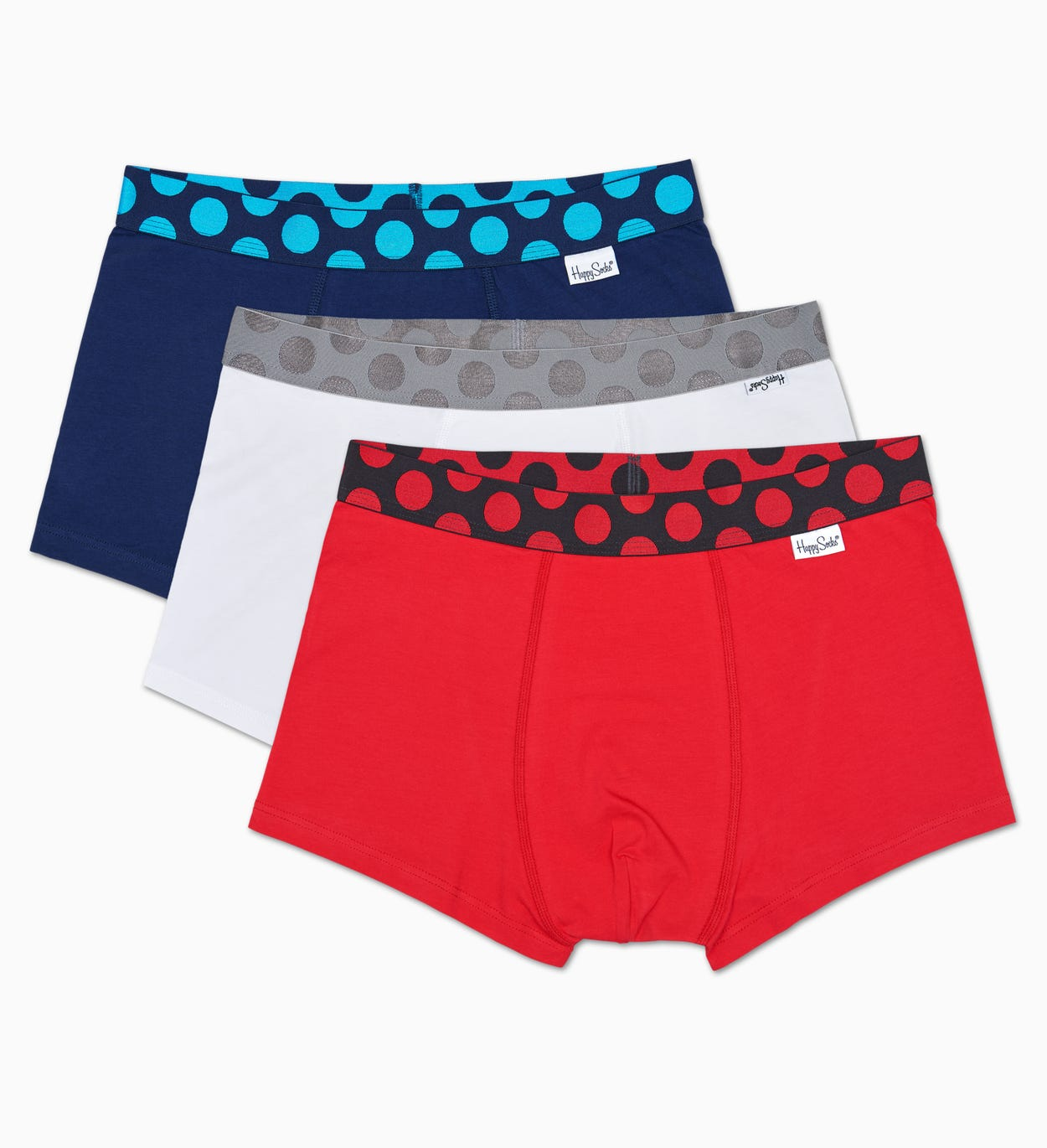 3-Pack Pop Trunk, Blue - Men's Underwear | Happy Socks