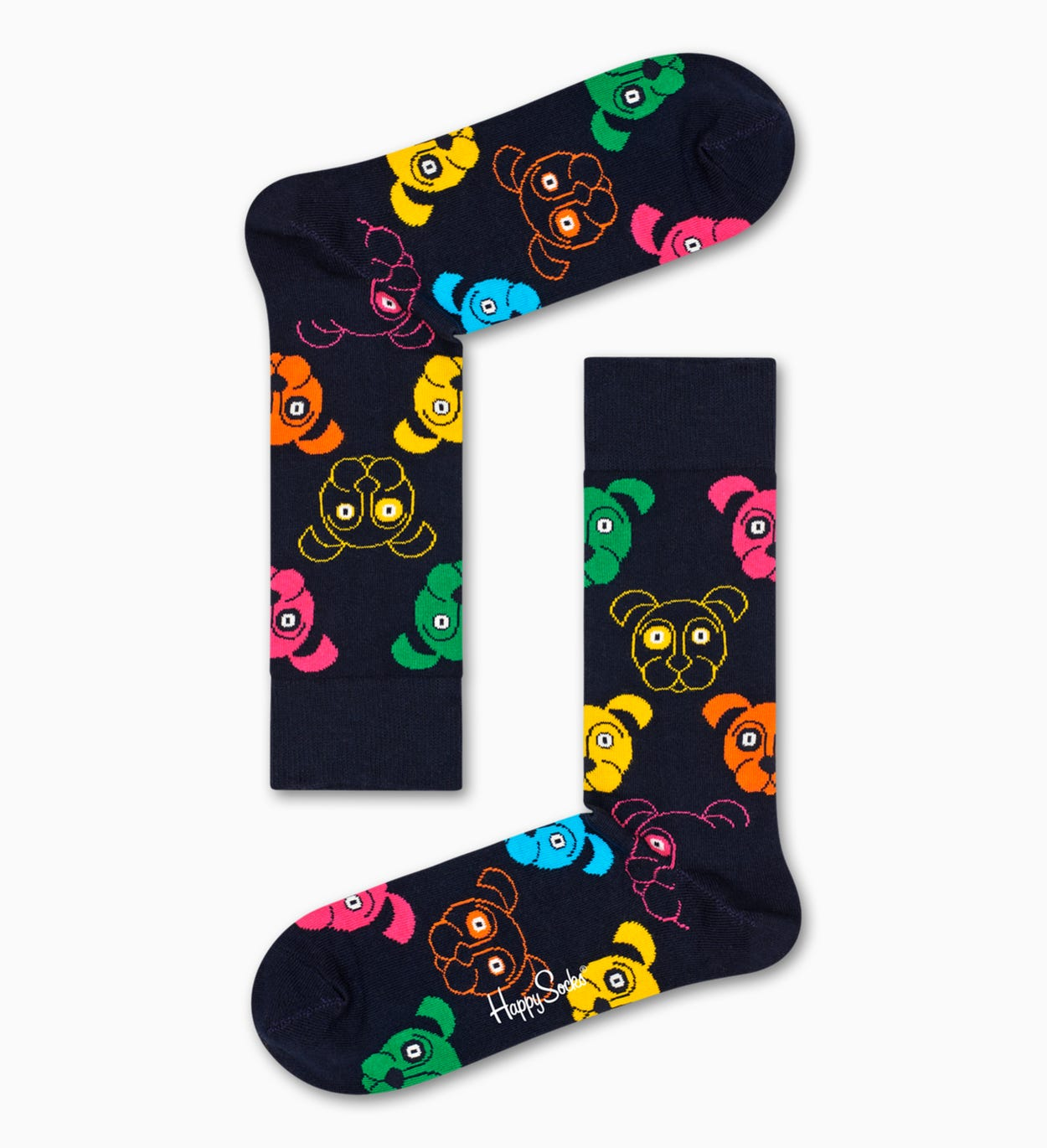 Colorful & Fun Dog Socks Gift Box 3pc | Happy Socks